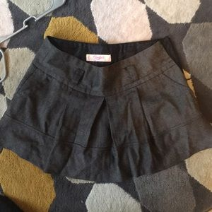 Candies gray/black pleated skirt